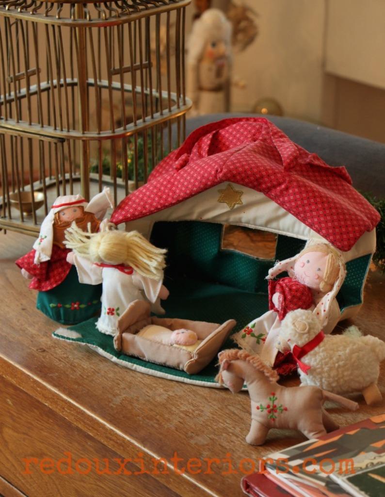 Holiday Home Tour Redouxinteriors childs nativity