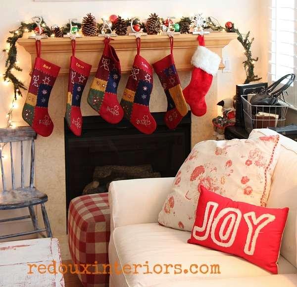 redouxinteriors family room and stocking