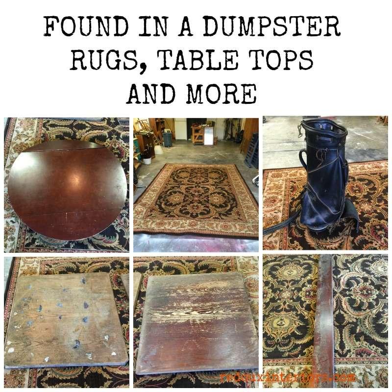Found in a dumpster rug golf bag redouxinteriors