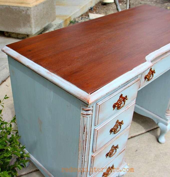 cece caldwells all natural stains metallic wax redouxinteriors desk