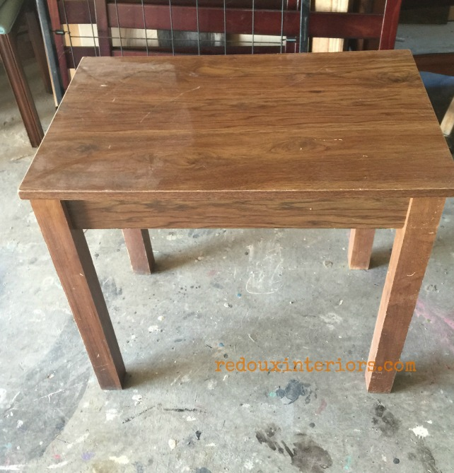Junk Table with Overlay before redouxinteriors