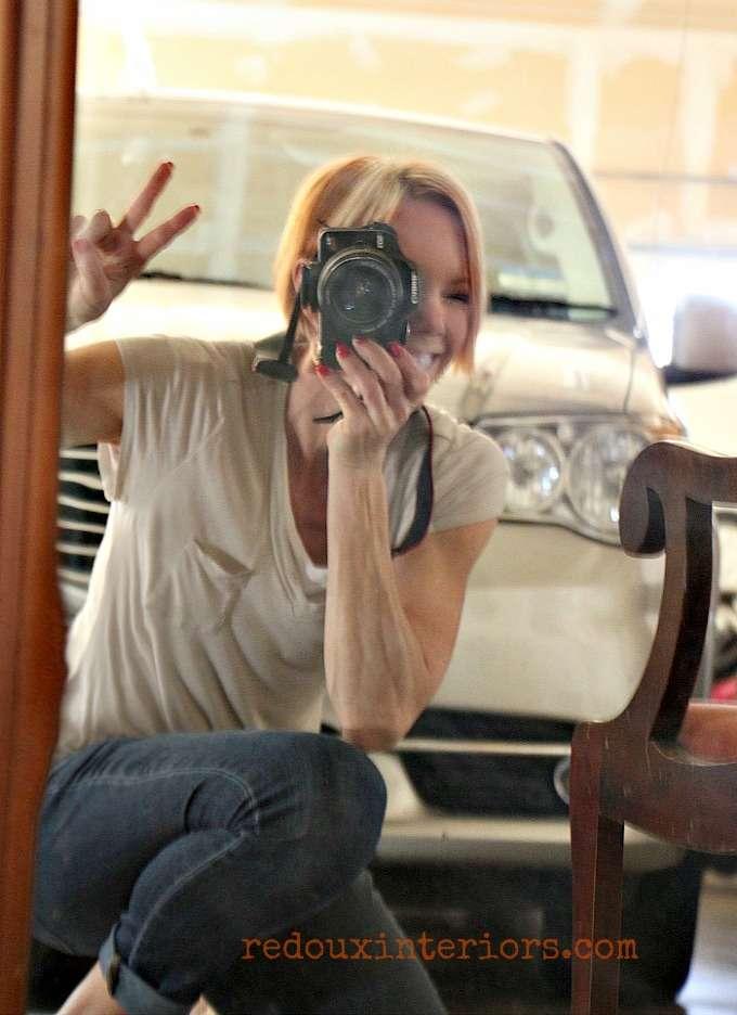 redouxinteriors photo bomb in mirror