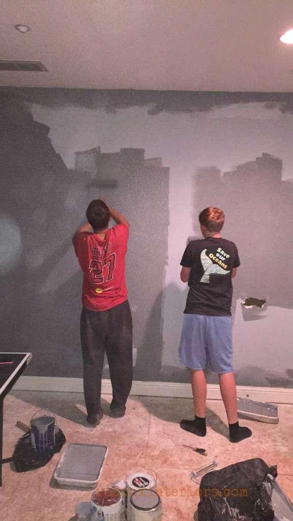 teen boys painting walls redouxinteriors