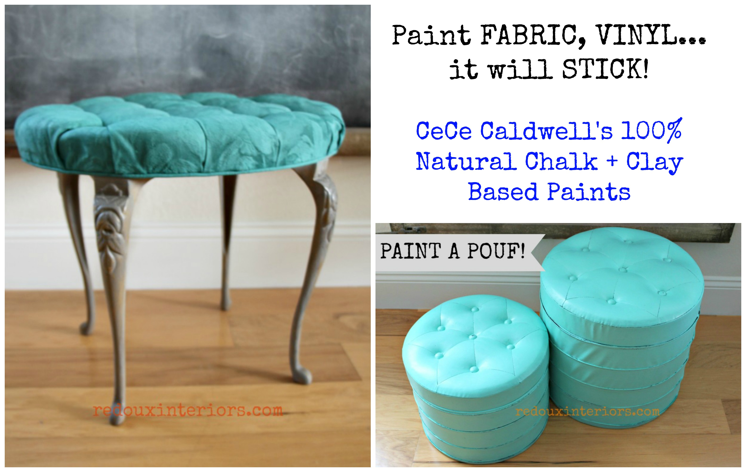 How To Paint Fabric Or Vinyl Using CeCe Caldwellu0027s Paints   Redoux Interiors
