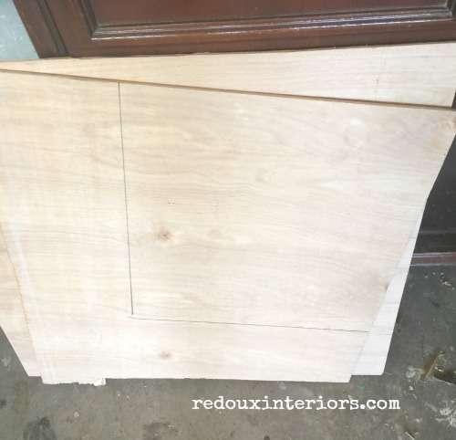 Vintage Stereo cabinet new door panels redouxinteriors