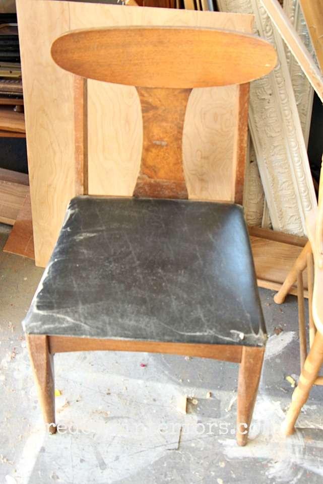 Dumpster found midcentury chair redouxinteriors