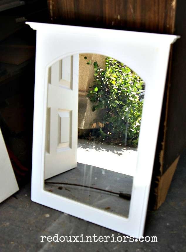 Dumpster found wall mirror redouxinteriors