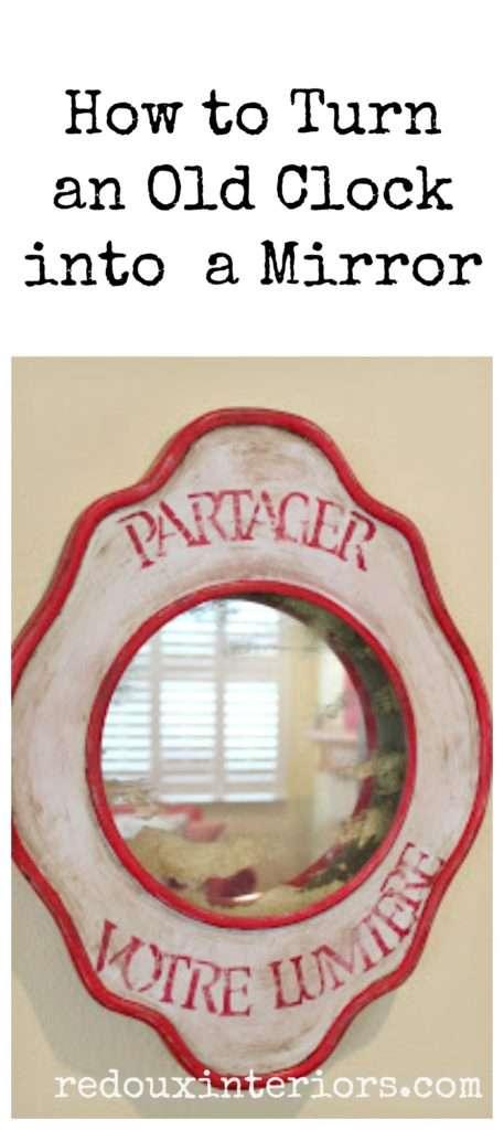 Old Clock Turned Mirror Pinterest