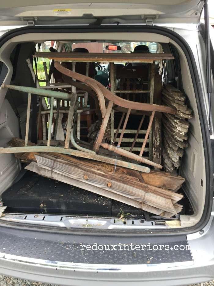 Van Full of Junk Chairs Redoux