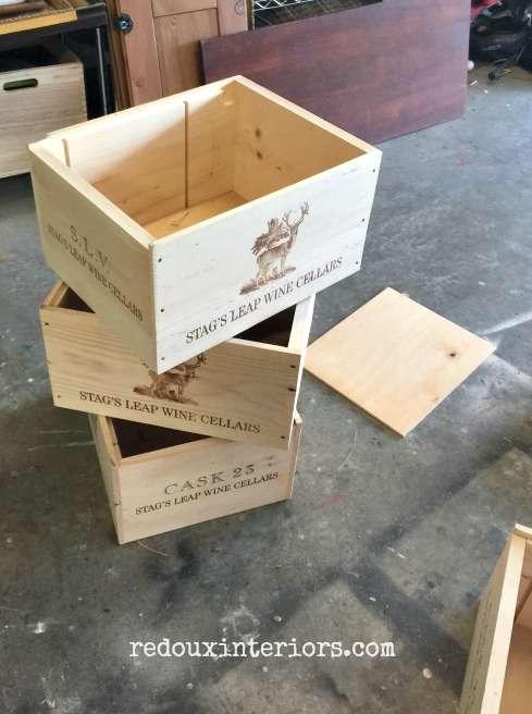 free wine crates with free wood bottom redouxinteriors