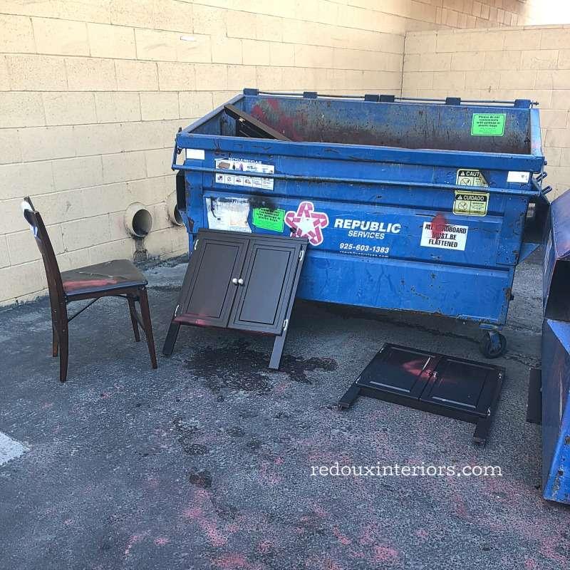 Dumpster Dive Free Cabinet Doors redouxinteriors.com