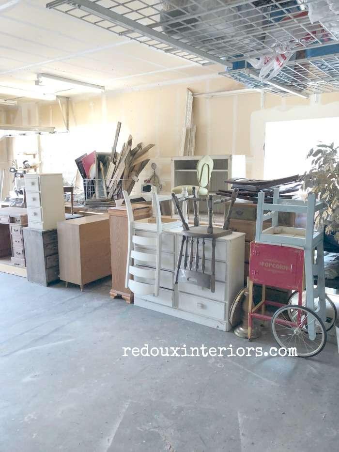 Garage Full of Furniture Organized Redoux