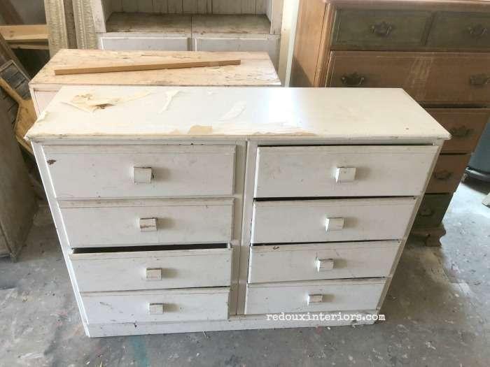 Free Long Dresser Tall White Redoux